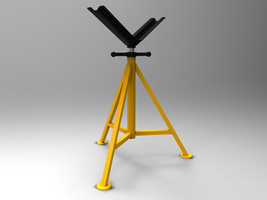 Pipe Jack Stands >> Pipe Jack Stand V Type 3d Cad Model Library Grabcad