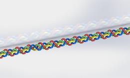 4 braided round wire
