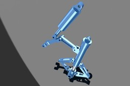 Landing gear assembly document - minus base hubs, fasteners, and wheel.