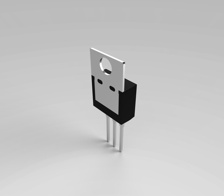 LM317 Voltage Regulator (Computer fan speed control) | 3D