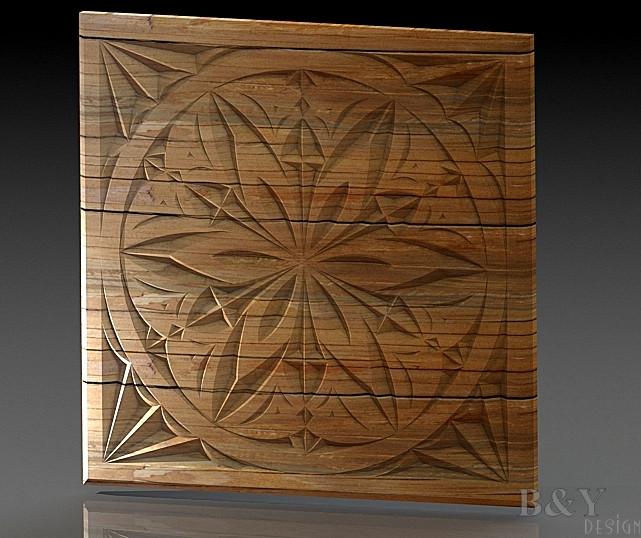 Wood carvİng 16 3d cad model library grabcad