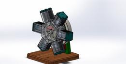 Neumatic 6 cylinder radial engine