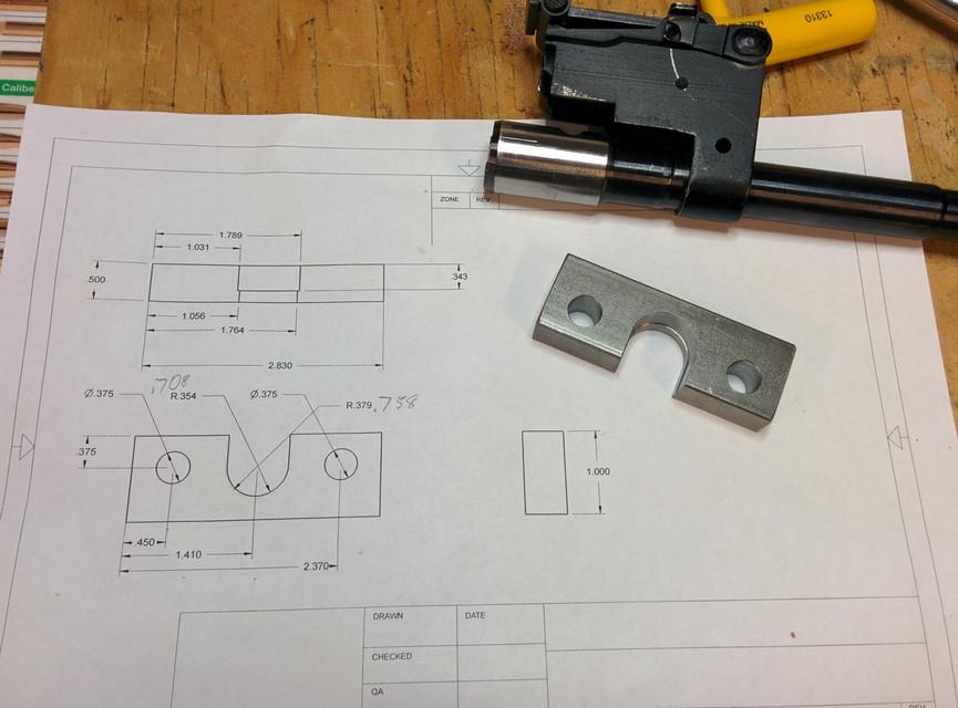 AK-74 barrel depopulating tooling | 3D CAD Model Library