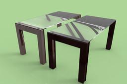 Table of big legs 160x80x80 cm.