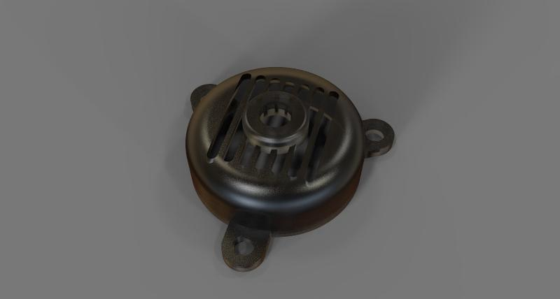 Electric Motor Fan Cover Step Iges Catia 3d Cad