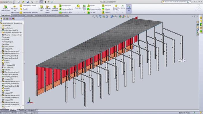 Nave Industrial, Metallic Construction Building