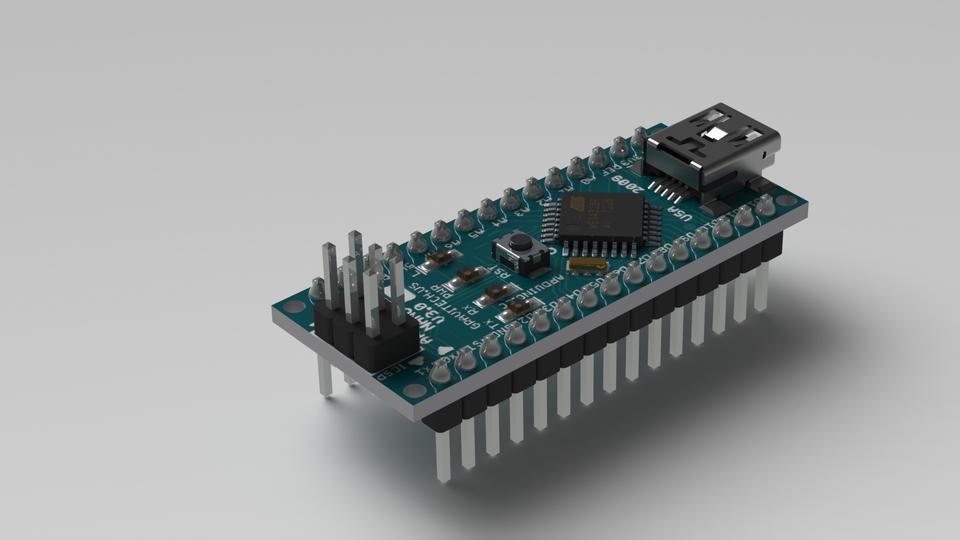 Arduino Nano | 3D CAD Model Library | GrabCAD