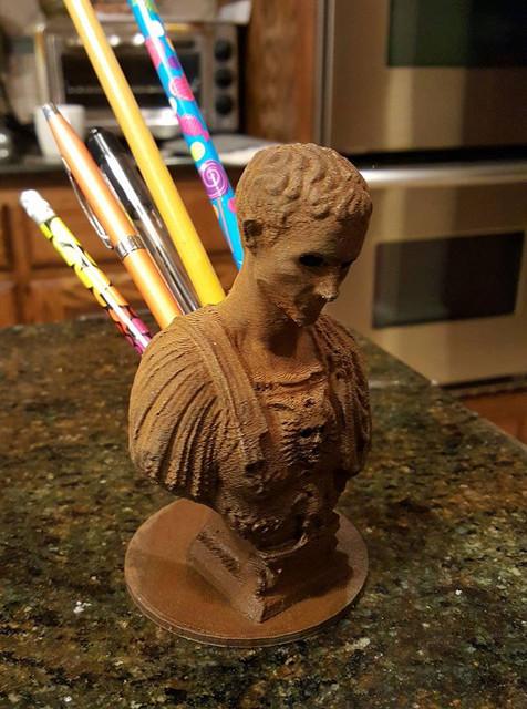 Julius Caesar Pencil Holder Magnificent Julius Caesar Pencil Holder 60D CAD Model Library GrabCAD