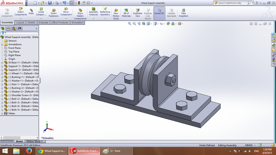 Wheel Support assembly ( student's project ) | 3D CAD Model
