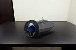 Keyshot rendering 2 inch diameter 3 stage axial jet engine