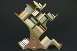 Tree Bookcase (with Books)