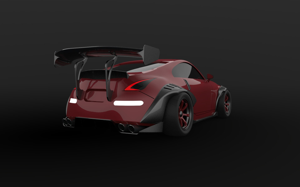 NISSAN 350Z - tuned | 3D CAD Model Library | GrabCAD