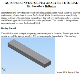 Autodesk Inventor FEA Analysis Tutorial