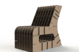 corrugated cardboard - child's Chair