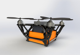 Topologie optimised quadcopter