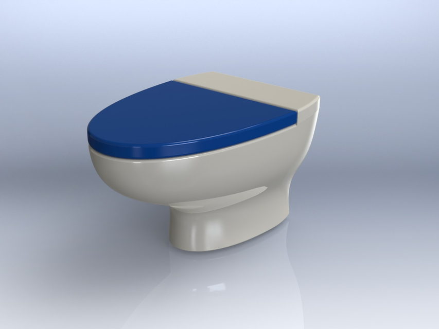 Toilet seat 3d cad model library grabcad