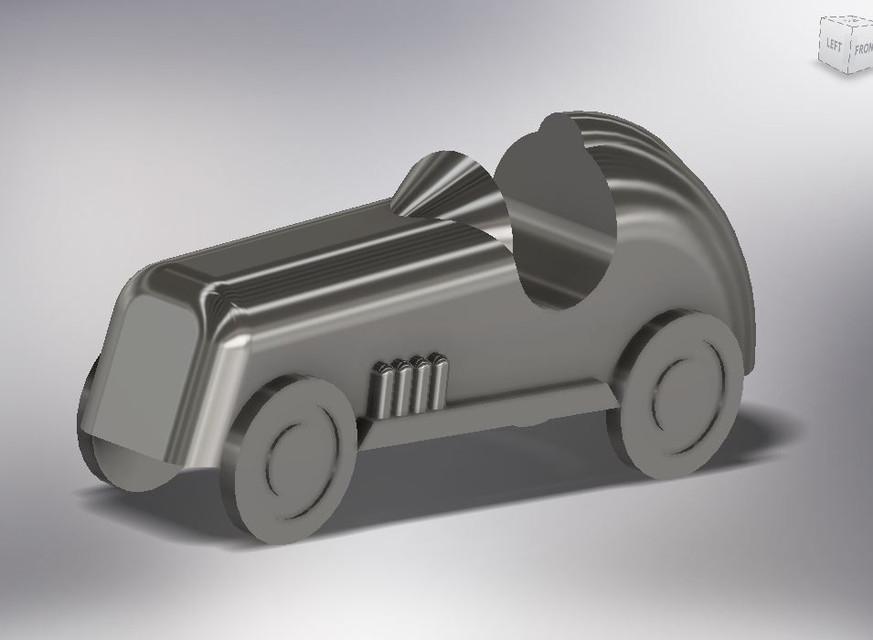 Monopoly Racecar (3D print) | 3D CAD Model Library | GrabCAD
