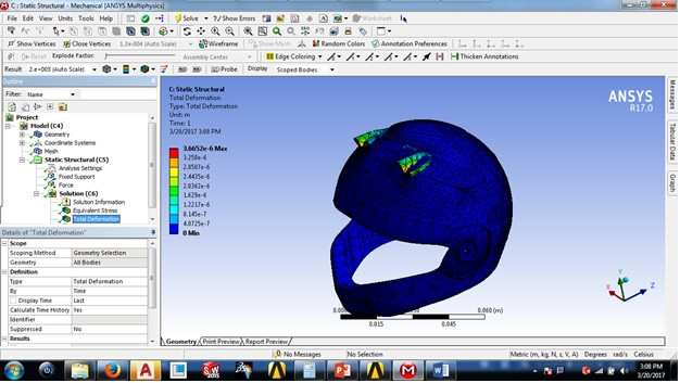 Helemet Analysis using Ansys workbench   3D CAD Model