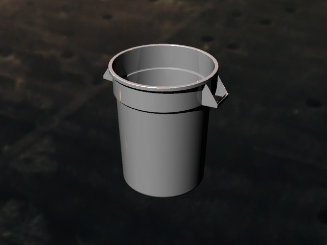 load in 3d viewer uploaded by singlefonts - Brute Trash Can