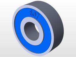 Rodamiento 607 - 2RS C3