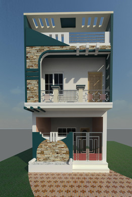 Residential Modern Elevation G+1
