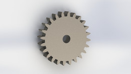 Spur gear with involute profile.