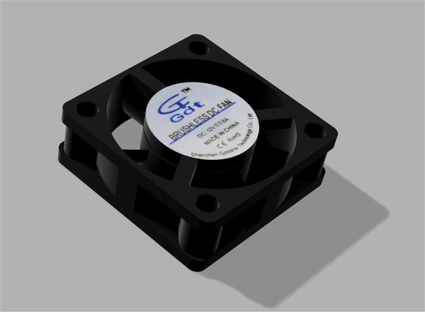 30mm DC fan | 3D CAD Model Library | GrabCAD