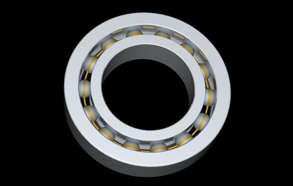 SKF thrust ball bearing | 3D CAD Model Library | GrabCAD