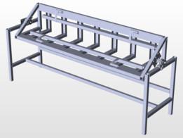 mesa para soldar ménsulas en serie