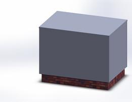Sheetmetal box for chimneys | Omkasting voor schoorstenen