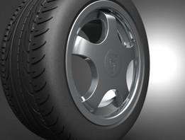 Porsche 959 rim and tire