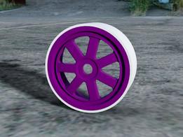 1/8 Scale Plastic Tire v2