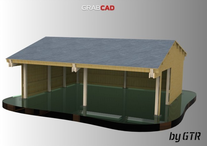 Wood Carport 9mx9m