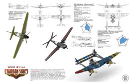 Standard P-40, Custom P-38, Custom P-40 WW2 Airplanes