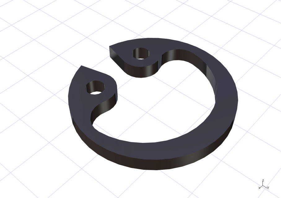 Din 472 circlip normal type catia stl 3d cad model for Circlips interieur din 472