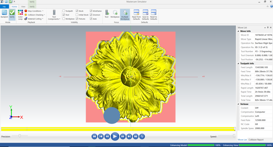 Artcam Flower design and CNC routing | 3D CAD Model Library