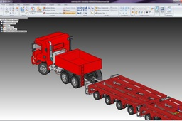 Heavy Truck Puller With Axles Assembly