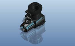 Two stroke single cylinder engine block