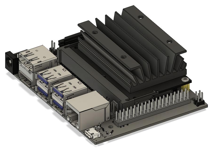 NVIDIA Jetson Nano | 3D CAD Model Library | GrabCAD