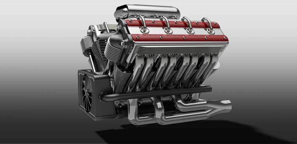 V8 Engine | 3D CAD Model Library | GrabCAD