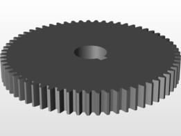 Gear 63 teeth module 1