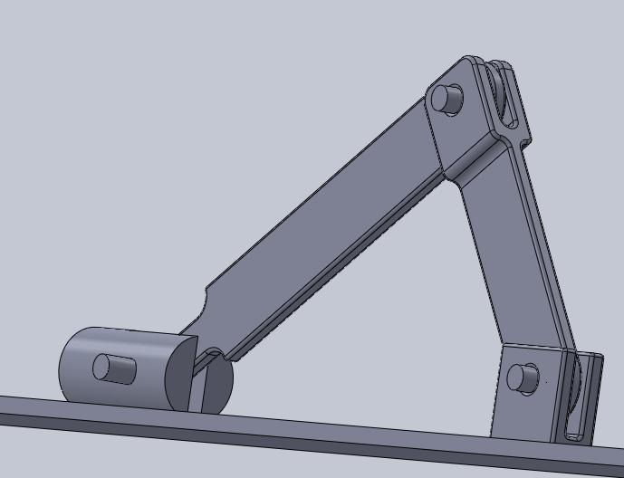 Crank And Slider Uses : Slider crank mechanism d cad model library grabcad