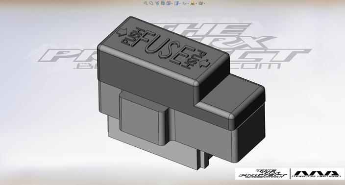 Yamaha trx fuse box stl step iges d cad model