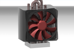Homemade design Heatsink & ZF3 Fan 120mm