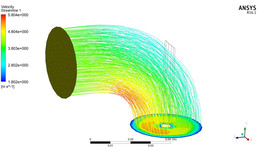 ansys cfx inlet valve flow analysis