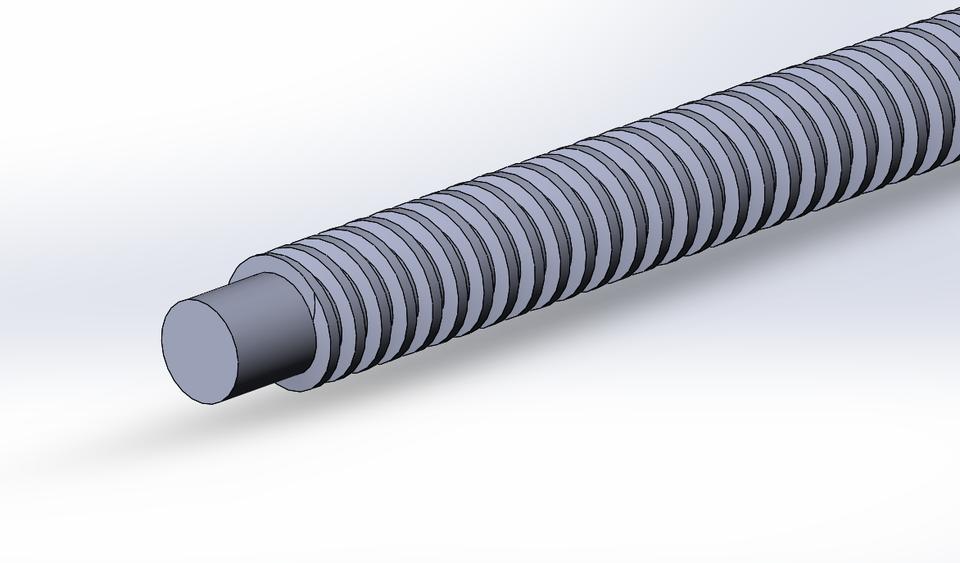 Lead Screw 8MM | 3D CAD Model Library | GrabCAD