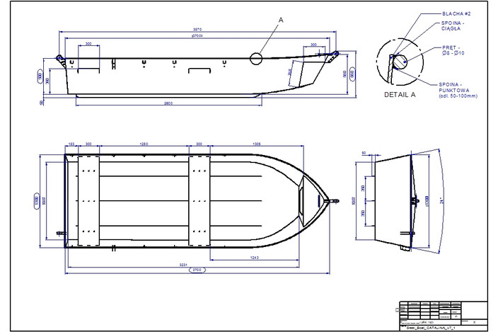 Fishing steel boat - free fishing boat plans
