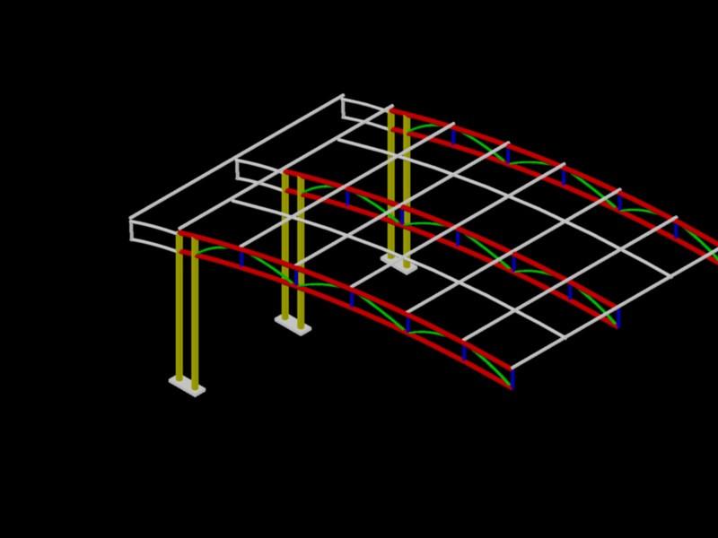 Car Park Roof Design 3d Cad Model Library Grabcad