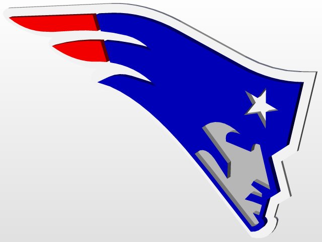 Patriots Logo - SOLIDWORKS - 3D CAD model - GrabCAD