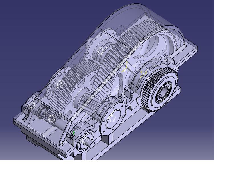 DESIGN OF 2 STAGE HELICAL HOIST GEAR BOX FOR EOT CRANE | 3D CAD